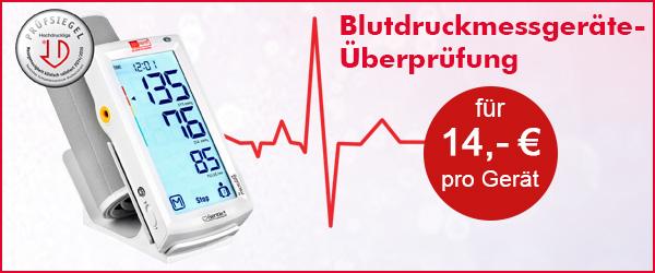 Blutdruckmessgeräte Überprüfung