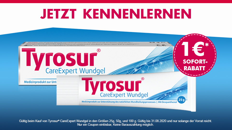 Tyrosur CareExpert Wundgel- 1 Euro sparen