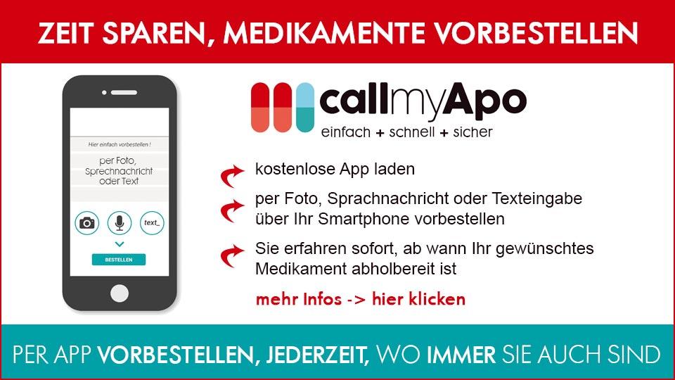 callmyApo - Medikamente einfach per SmartphoneApp vorbestellen